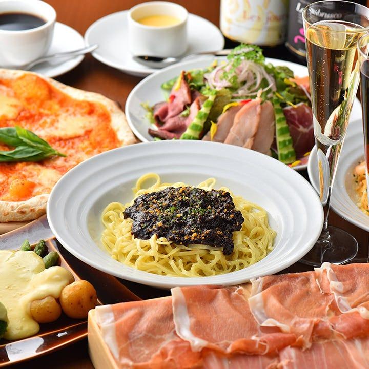 コース料理は4000円より承ります