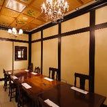 【上質個室】 接待や会食になどシーンに合わせた個室も完備