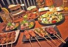 宴会コースは、串・鍋・両方の3種類
