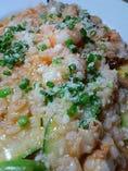 帆立貝と小海老、トマトソース
