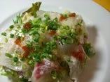 新鮮魚介のカルパッチョ サラダ仕立て