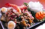 天然海老入り焼き茄子のスパイシーサラダ