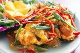 特製 蟹と玉子のカレー香り炒め