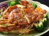 ソフトシェル蟹とグリーンパパイヤのタマリンド風味