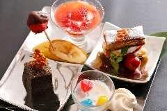 【お誕生日・記念日のお祝いに】デザート盛り合わせ