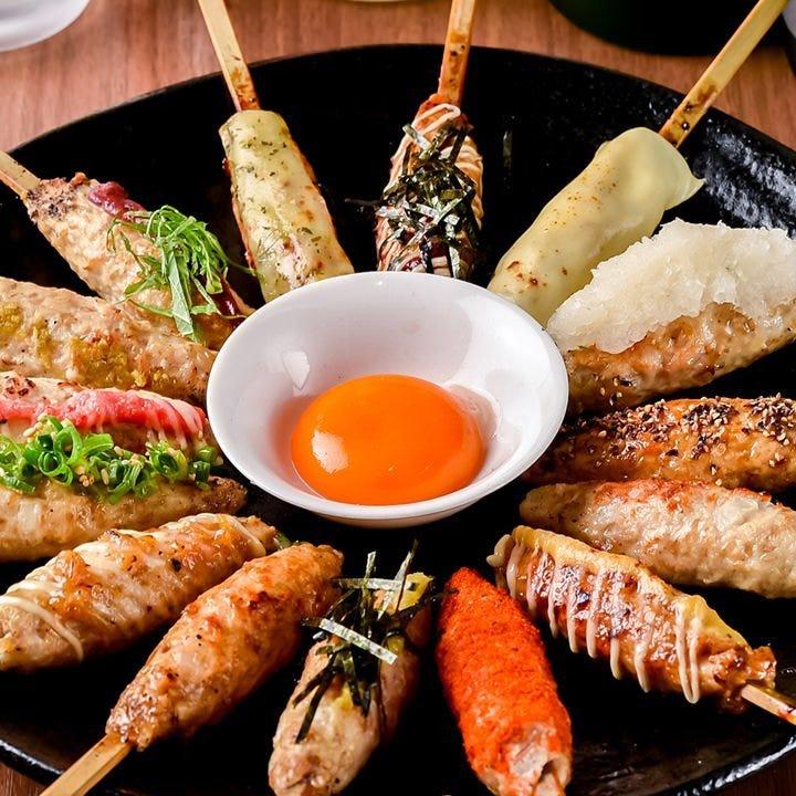 焼き鳥、野菜巻き、逸品料理など、多数ご用意しております!