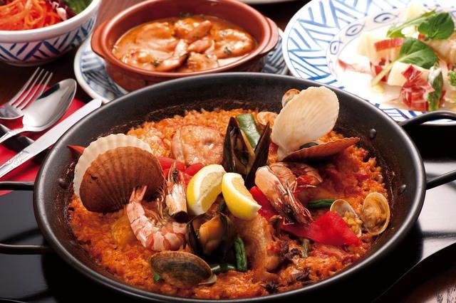 本格スペイン料理の豊富なメニュー