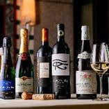 世界各国のワインは20種以上を常備。特別なシャンパンも有り