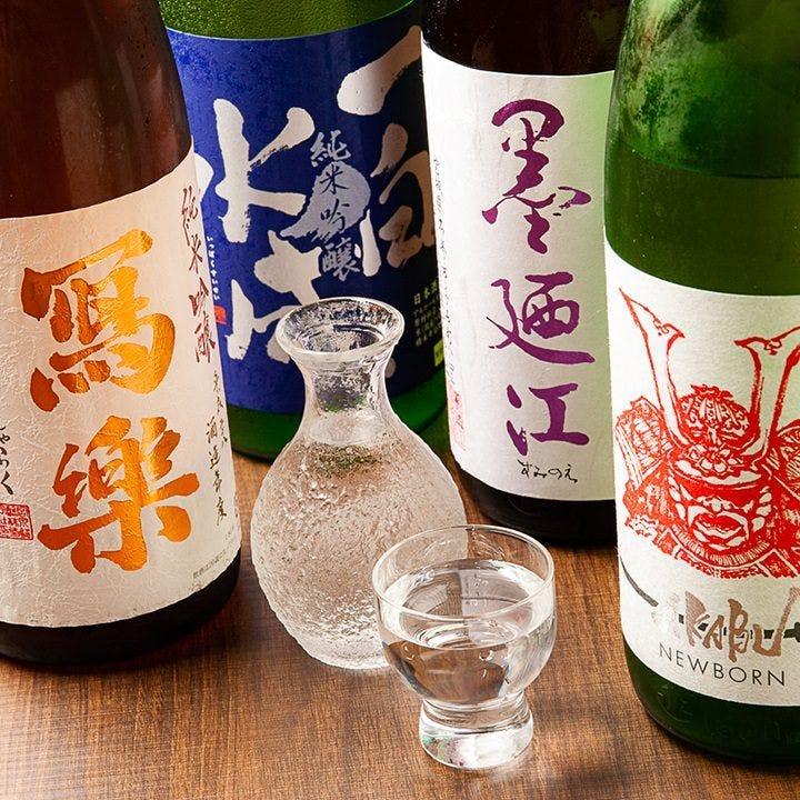 季節の純米酒を1本ずつ20種以上常備