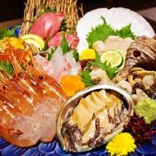 新鮮なお刺身を堪能する会食コース全7品 超達人店の『神泡』プレモル付120分飲み放題5,000円コース