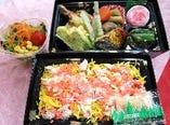 かにちらし寿司弁当 1500円(平日11:30~13:00限定)