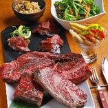熟成肉3種を食べ比べできる『初めての熟成肉コース』