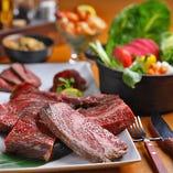 宴会で一番人気の『ちょっぴり贅沢 熟成肉コース』