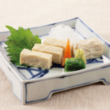 湯葉豆腐とたぐり湯葉のお造り