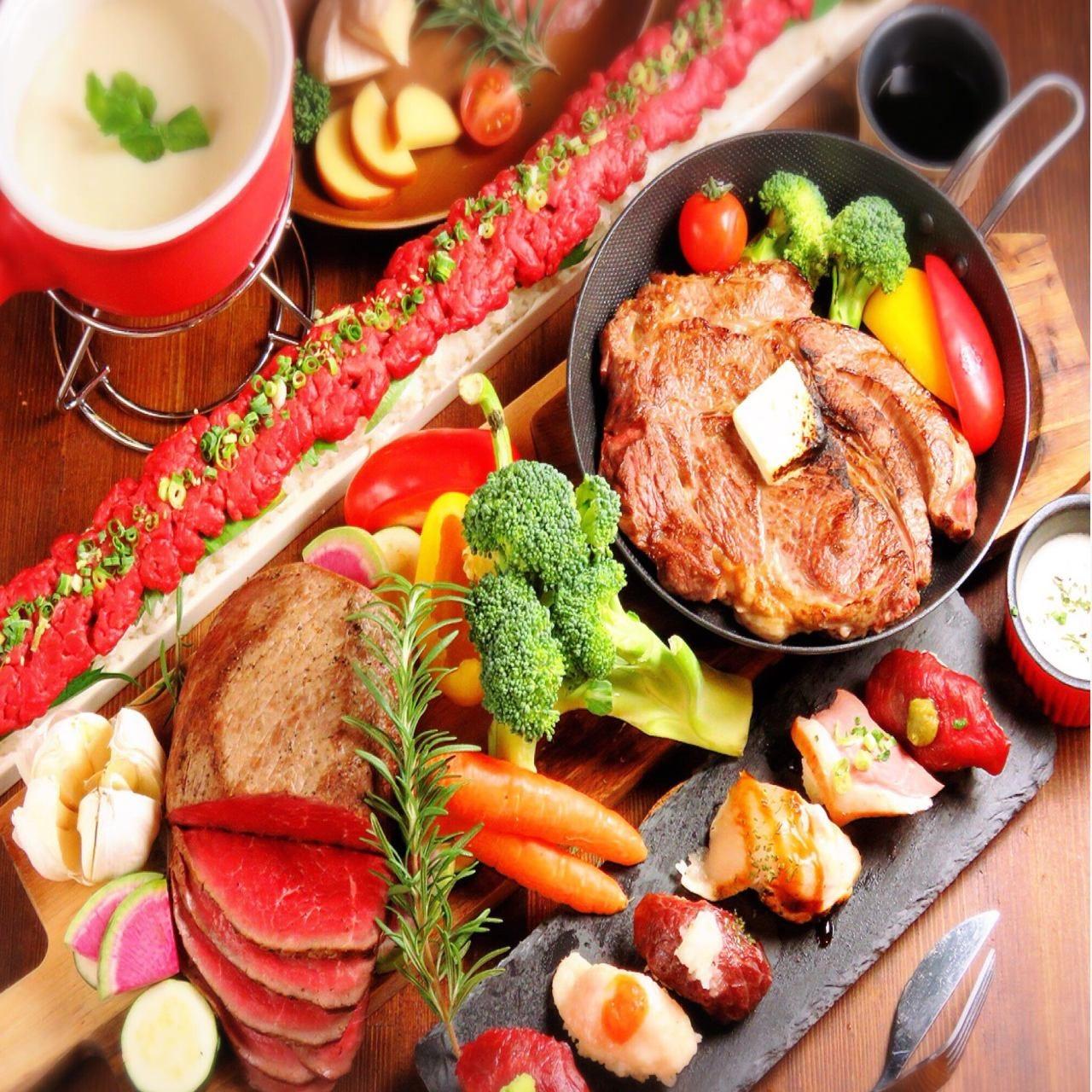 ★肉寿司 チーズ お肉 食べ飲み放題