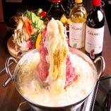 ★ 肉 炊 き W チ ー ズ 鍋  〜2種類のチーズとお肉が相性抜群♪〜