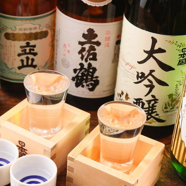 日本酒好きにはたまらない 地酒一合500円(税抜)均一!