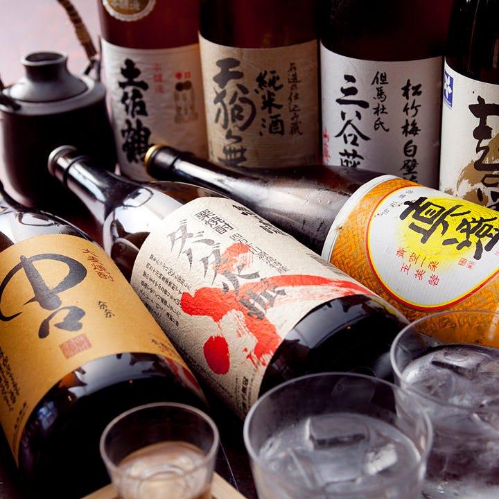 季節に応じて店長が選び抜いた日本酒