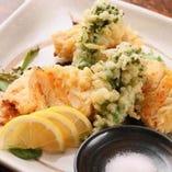 旬の野菜天ぷら盛り合わせ