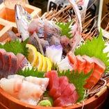鮮魚盛り 五種