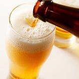 きめ細かい泡に、のどごし抜群のビールも飲み放題!