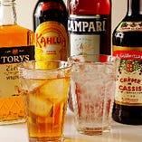 ビール、サワー、焼酎、ワイン。アルコール各種そろってます♪