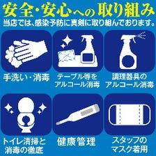 コロナウイルス感染拡大防止対策実施
