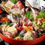 ■お造り盛り合わせ■ 珍しい鮮魚も!日替わりで13種ご提供