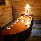 完全個室は6名様からご用意。会社のお仲間とお過ごし下さい。