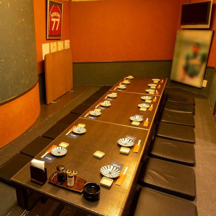 最大16名様個室完備・貸切は38名様まで可能です。