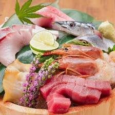 名物!市場直売鮮魚『お造り桶盛り』