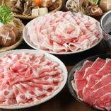 しゃぶしゃぶ、すき焼き食べ放題+飲み放題=3900円(税込)