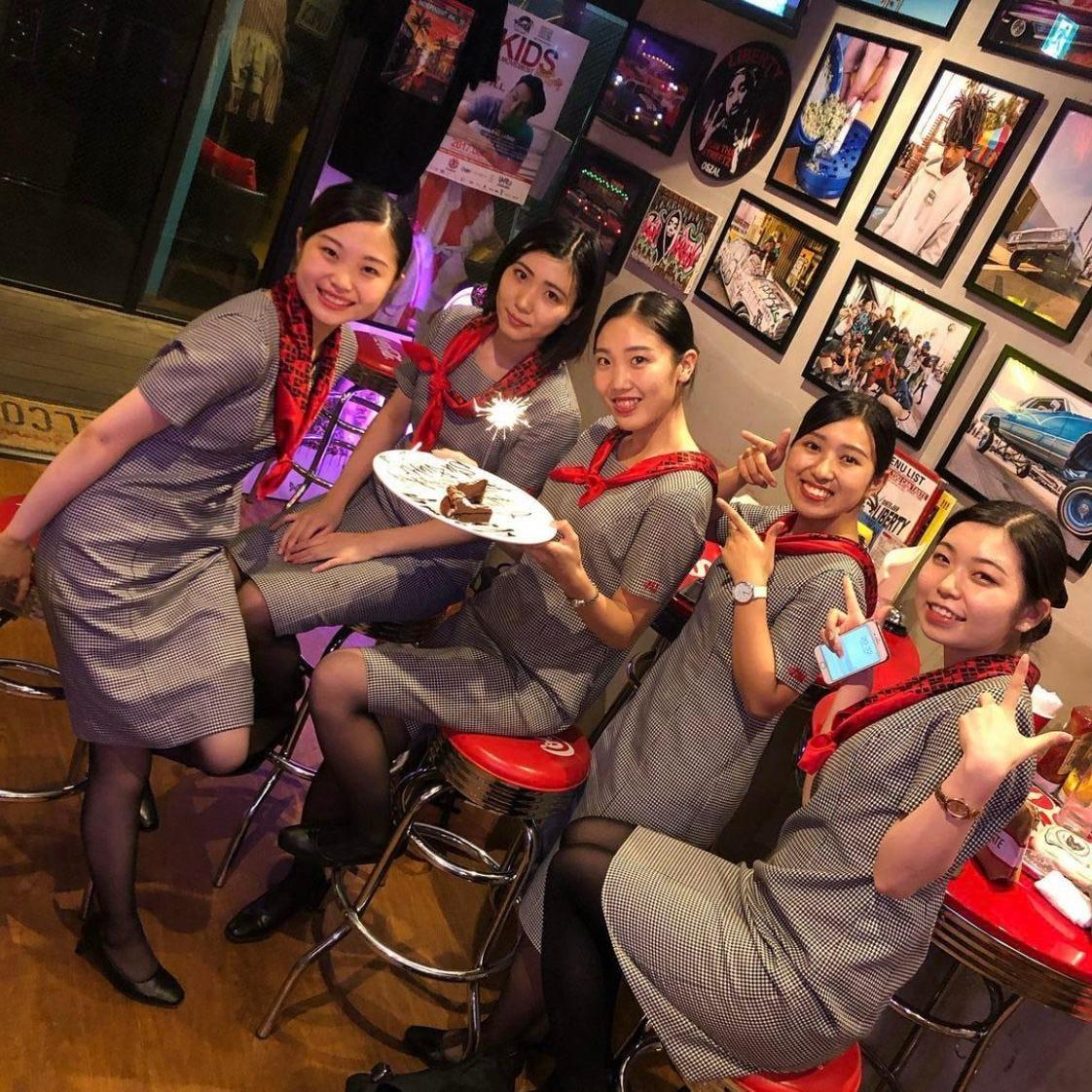 誕生日などのお祝いに『女子会コース』全10品1980円+1000円で3H飲み放題付に♪♪※3Hは女子限定