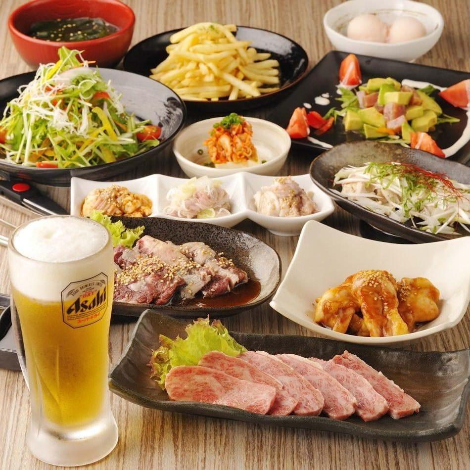【牛すき焼き陶板コース】充実のお料理10品(飲み放題付)3,500円