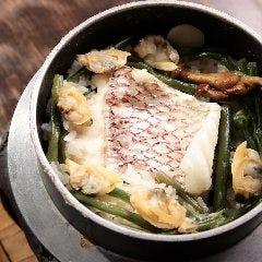 明石鯛とあさりの釜めし(お出汁付き)