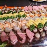 貸切ご宴会、大皿盛り・ビュッフェスタイルなど多様に対応いたします。