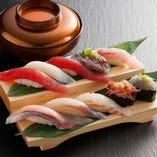 定番のネタ、旬のネタで握る鮨をご堪能ください☆