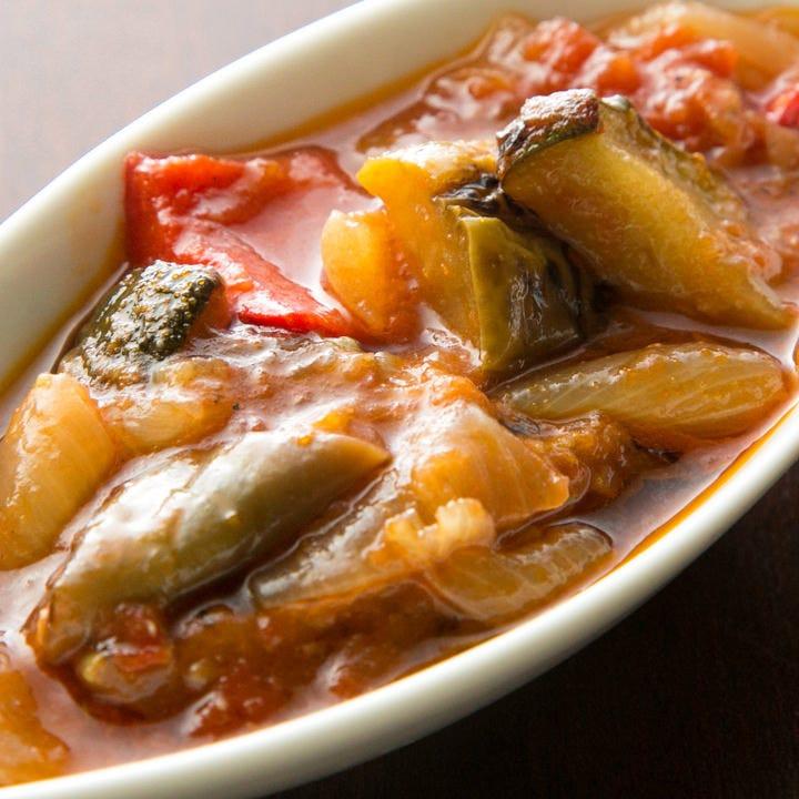 しっかりとトマトの美味しさが染み込んだ冷製 南仏野菜の煮込み