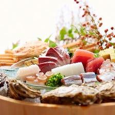 全国各地の旬の魚介類を堪能あれ