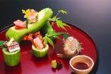 会席料理の一品 「お造り」漁港直送で最高鮮度