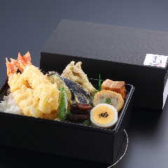 【仕出弁当】発熱容器☆海老天重弁当・味噌汁付 ¥2,000