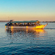 【屋形船貸切☆湖上で会席料理】霞月丸¥10,000会席料理・飲み放題込みの湖上の宴