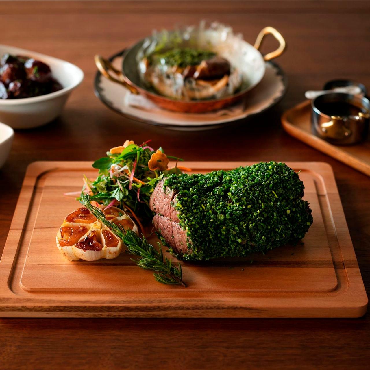 珍しい「雪室」熟成肉のグリル