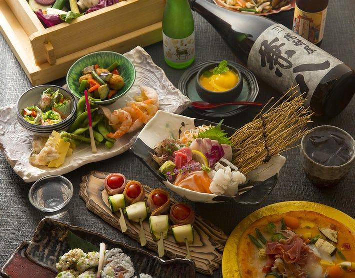 ◆和洋折衷な料理をコースで満喫!