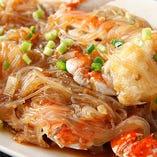 渡り蟹と板春雨XO醤炒め煮