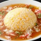 渡り蟹のカキソース炒飯