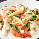 車海老と野菜のガーリック塩味炒め