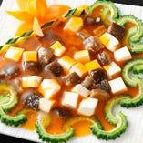 ナマコと豆腐の蟹味噌煮込み
