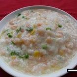 ◆海老と卵白ふわふわあんかけ炒飯