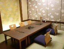 落ち着いた雰囲気のお座敷個室